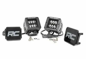 S d 2 inch Square Cree Led Lights pair Black Series