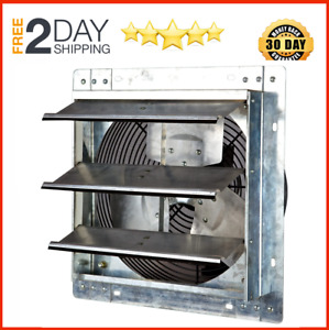 10 Shutter Exhaust Fan 1200 Cfm Industrial Speed Mount Wall Garage Shop Attic