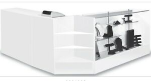 Combo Pos 70 Showcase 48 Counter 24 Cash Well White Assembled Us Made New