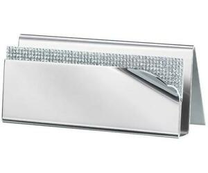Swarovski Ambiray Cardholder 5064393 Stainless Steel With Crystals