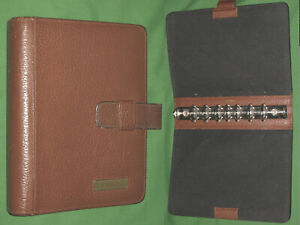Desk 1 25 Brown Leather Day Timer Planner Binder Classic Franklin Covey 294