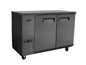 Atosa Sbb48graus2 48 Shallow Depth Double Solid Door Back Bar Cooler