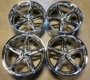 Foose Lusso Wheels Rims 20 Inch 5x112 30mm Chrome