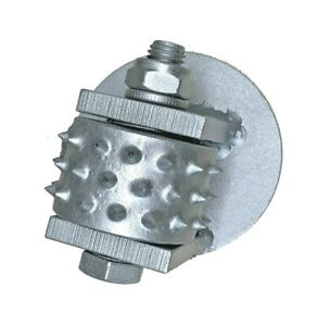 Carbide 45 tipped Bush Hammer Used On Husqvarna To Pulverize Concrete Surfaces