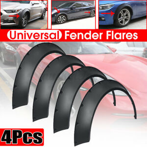 4x Universal Car Fender Flares 3 5 3 9 Extra Wide Body Wheel Arches Flexible