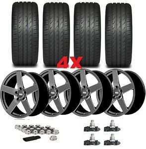 20 Rims Wheels Tires 315 35 20 275 40 20 Staggered Offset Gunmetal Package Oe