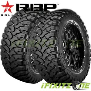 2 New Rbp Repulsor M T Lt265 75r16 123 120q 10 Ply Off Road Jeep Truck Mud Tire