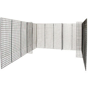 Black Grid Gridwall Panel Trade Show Booth Display 10 X 10 X 6 Lot Of 18 New