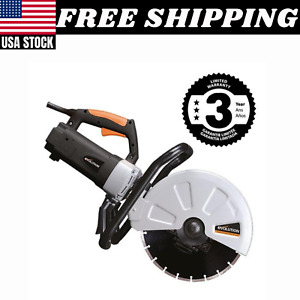 Electric Paver Saw Masonry Concrete Brick Heavy Duty Portable 12 In Corded New