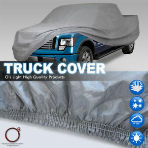 Pickup Truck Car Cover Cotton Inlay Rain Resistant Crew Cab Bed Fit Chevrolet