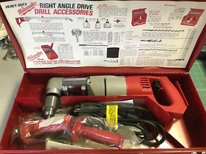 Milwaukee Heavy Duty Right Angle Drill 2 Speed Unused In Metal Case 1107 1