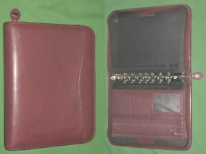 Desk 1 0 Red Leather Day Timer Planner Binder Classic Franklin Covey 8312