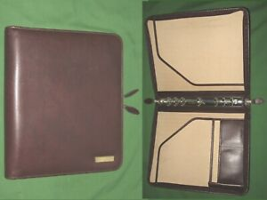 Folio 1 0 Brown Faux Leather Day Timer Planner 8 5x11 Monarch Franklin Covey