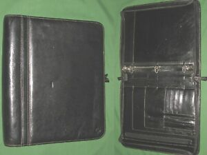 Monarch 1 25 Black Leather Faux Franklin Covey Planner 3 Ring Binder 8 5x11