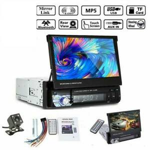 7 1 Din Car Radio Head Unit Stereo Audio Flip Out Touch Screen Fm Sd Camera