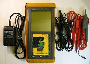 Fluke 97 2 Channel 50mhz Handheld Digital Oscilloscope With Probes Powersupply