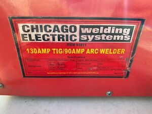 Chicago Electric Harbor Freight Tig Stick Welder Kit Good Used Working Clean