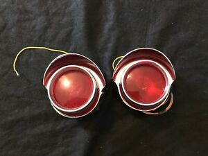Oem 1956 Pontiac Star Chief Tail Lights Rare