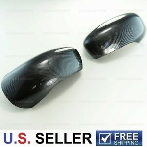 Fit 2006 2010 Dodge Charger Black Carbon Fiber Print Look Side Mirror Covers