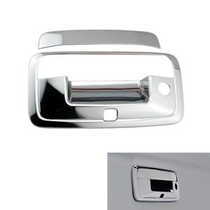 For 2014 2018 Chevy Silverado Chrome Tailgate Handle Covers With Camera Hole