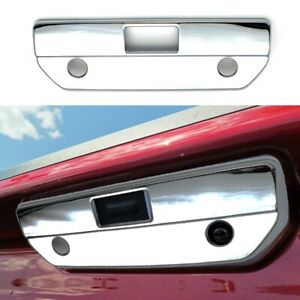 For 2019 2021 Chevy Silverado Chrome Tailgate Handle Covers With Camera Led Hole