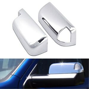 For 2009 18 Dodge Ram 1500 Top Half Chrome Towing Mirror Covers With Turn Signal