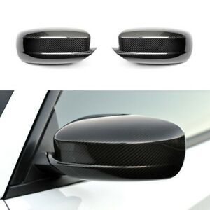 For 2011 2020 Dodge Charger Black Carbon Fiber Print Look Side Mirror Covers