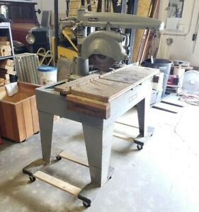 Dewalt Industrial 14 Radial Arm Saw 110v 220v Single Phase model Gp Woodwork