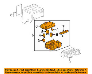 Buick Gm Oem 05 07 Rainier electrical Fuse Relay Box 25925580