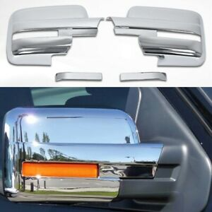 Fit 2009 2014 Ford F150 Full Chrome Side Mirror Covers W Turn Signal F 150