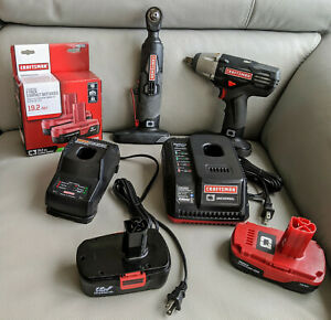 Craftsman C3 19 2 Volt Power Tools 1 2 Impact Wrench Max Axess Power Ratchet