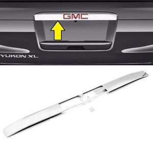 For 2015 2020 Gmc Yukon Xl Chrome Upper Liftgate Tailgate Handle Cover Trim