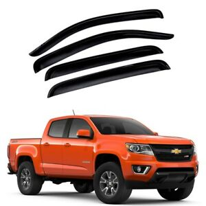 For 2015 2020 Chevy Colorado 4pcs Acrylic Window Sun Rain Visors Guard Crew Cab