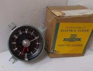Nos 1965 1966 Oldsmobile Jetstar 88 Dynamic 88 Starfire 98 Clock Works Perfectly