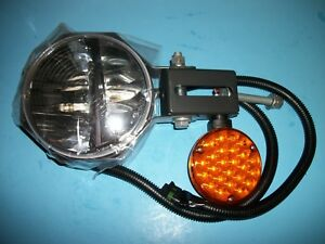 New Truck Lite 80988 Led Snow Plow Light 7 Round Right Hand Side Heated Lens