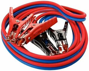 Heavy Duty 500 Amp 6 Gauge Jumper Cables Extra Long 12ft No Tangle Battery