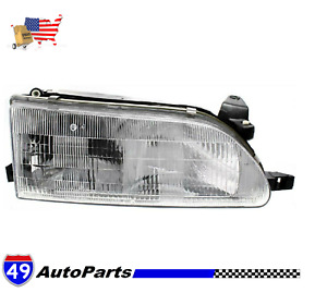 New Headlight For 93 97 Toyota Corolla Right Clear Lens Halogen Dot To2503107