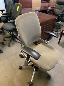 Executive Chair By Steelcase Leap V2 In Beige Color fully Loaded
