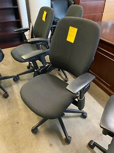 Executive Chair By Steelcase Leap V2 In Dark Gray Color fully Loaded