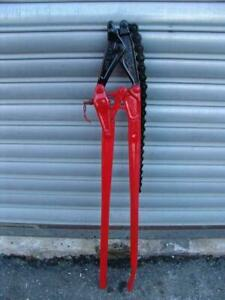 Wheeler Rex Cast Iron Chain Soil Pipe Cutter Snapper Works Very Well