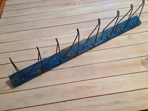 Vtg Auto Belt hose Display Rack Upcycle Industrial Clothes Hat Shabby Rack 36x2