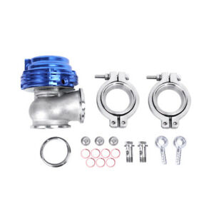 35mm 38mm Turbo Charger Manifold Blue 20 Psi Compact 2 Bolt External Wastegate