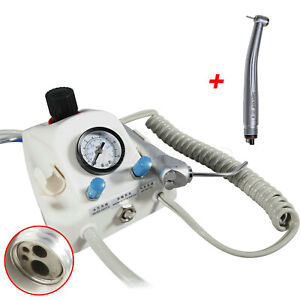 4hole Portable Dental Air Turbine Unit High Speed Handpiece Clean Head Stnabm