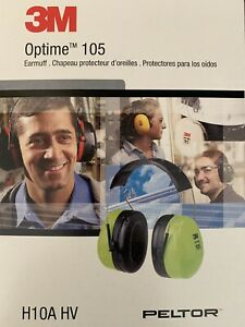 3m Optim 105 Peltor Over The Head Earmuff H10a Hv Hearing Protection New In Box