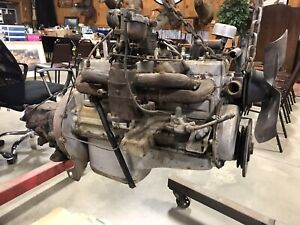 1953 Studebaker Champion 6 Cylinder Flat Head Motor And Transmission
