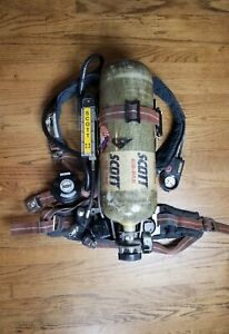 Scott 2 2 Air Pack Scba Harness With 2216 Tank Ez Flo Regulator Vibralert