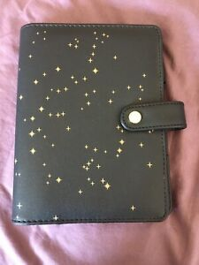 Dokibook Discagenda Constellations Black Gold Star Personal Planner Cover Only