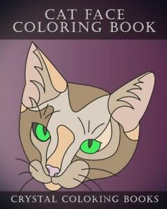 Cat Face Coloring Book 30 Easy Line Drawing Cat Face Coloring Pages