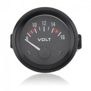Car Motorcycle 12v Digital Led Display Voltmeter Voltage Gauge Meter 8v 16v Us