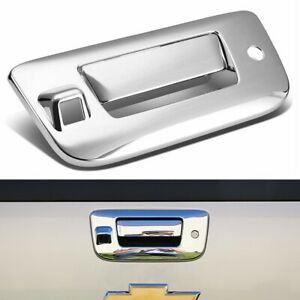 Fit 2007 2013 Gmc Sierra Chevy Silverado Chrome Tailgate Handle Cover W Camera